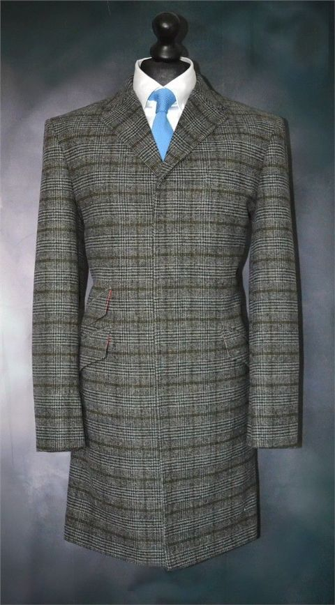 MODCLOTHIN GIBBS 3/4 OVERCOAT CHECK FABRIC OFFER